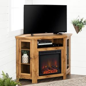 barnwood-corner-fireplace-tv-stand